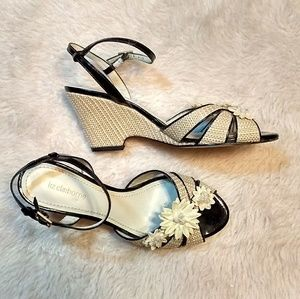 Wedge Flower Sandals